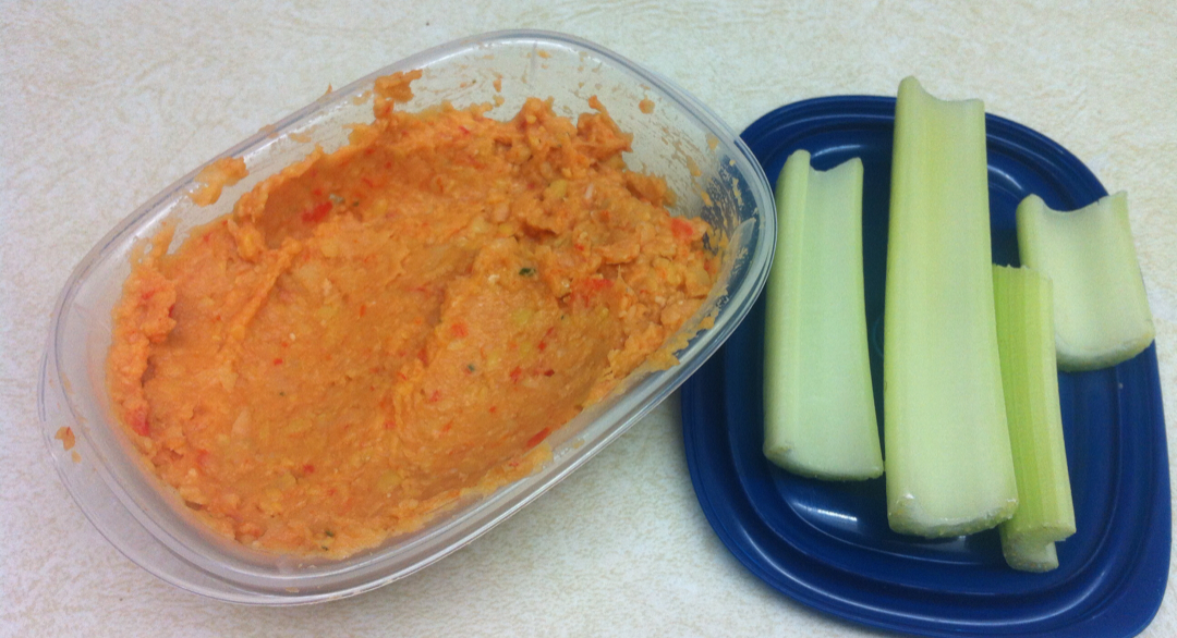 homemade roasted red pepper hummus recipe