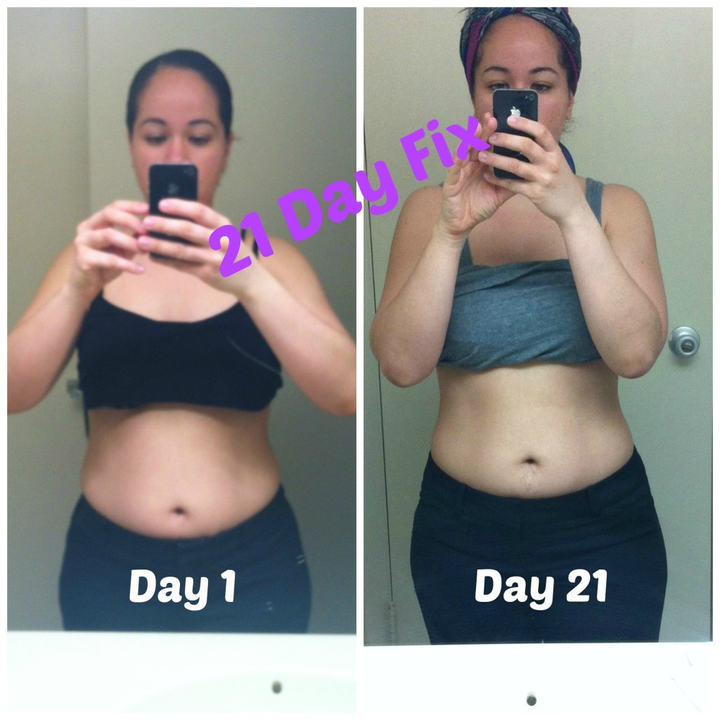 21 day fix before and after pic